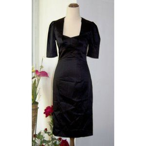 Cue Pencil Black Slim Dress